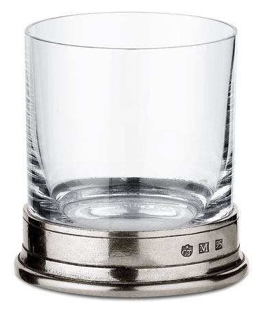 Whisky glass cm h 8,7 cl 24 (Pewter, lead-free Crystal glass) - collection: Sirmione. Cosi Tabellini.