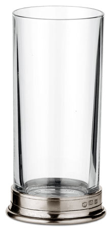 Highball glass cm h 16,2 cl. 33 (Pewter, lead-free Crystal glass) - collection: Sirmione. Cosi Tabellini.
