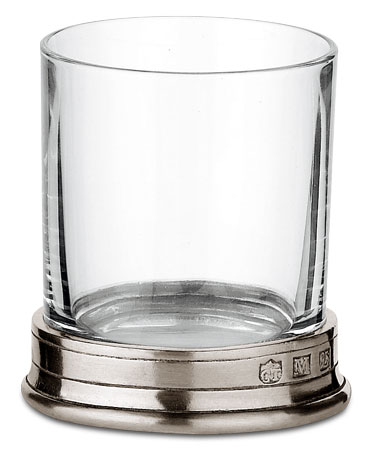Spirit glass cm h 6,2 cl. 7 (Pewter, lead-free Crystal glass) - collection: Sirmione. Cosi Tabellini.