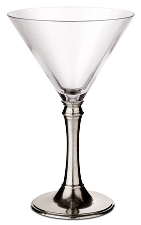 Martini glass cm h 18 x cl 21 (Pewter, lead-free Crystal glass) - collection: Tosca. Cosi Tabellini.
