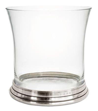Ice bucket, grey, Pewter and lead-free Crystal glass, cm 18,5xh19