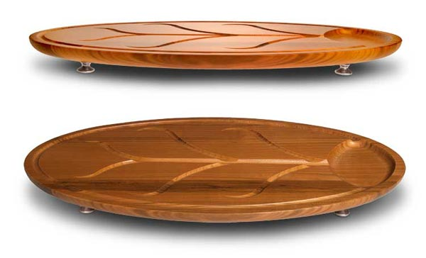 Oval cherry cutting board cm 44,5 x 25,7 h 2,1 (Pewter, Wood) - collection: Etruria. Cosi Tabellini.