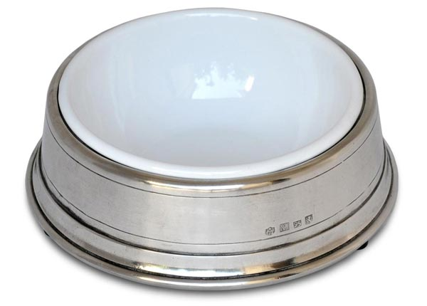 Pet bowl cm Ø 18 x h 6 (ins Ø 14) (Pewter, Stainless steel) - collection: Convivio. Cosi Tabellini.