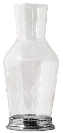 Bedside Carafe cm h 22 cl 92 (Pewter, lead-free Crystal glass) - collection: Sirmione. Cosi Tabellini.