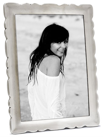 Rectangular photoframe, xxl cm 20xh26 - photo format 18x24 (Pewter, Glass) - collection: Carretti. Cosi Tabellini.