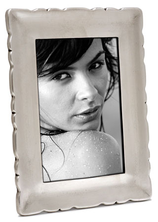 Rectangular picture frame, sm cm 9,5xh12,5 - photo format 7x10 (Pewter, Glass) - collection: Carretti. Cosi Tabellini.