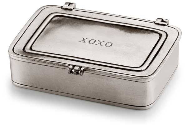 Lidded box cm 9,5 x 6,5 (Pewter) - collection: Xoxo. Cosi Tabellini.