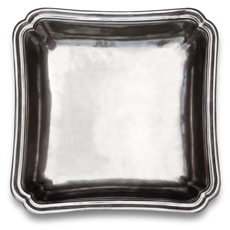 Square bowl cm 26x26 (Pewter) - collection: Lorenzo. Cosi Tabellini.