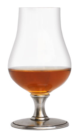 Bourbon glass cm h 13,5 cl 22 (Pewter, lead-free Crystal glass) - collection: Abbazia. Cosi Tabellini.