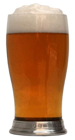 Beer glass cm h 16,3 x cl 50 (Pewter, Glass) - collection: Sirmione. Cosi Tabellini.