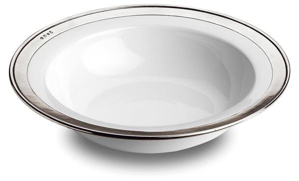 サラダボウル (ホワイト), グレー および 白, ピューター および 陶器, cm Ø 39,5