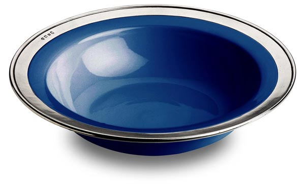 Round serving bowl - blue cm Ø 39,5 (Pewter, Ceramic) - collection: Convivio. Cosi Tabellini.