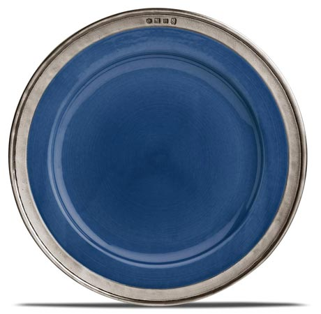 Charger plate - blue cm Ø 31 (Pewter, Ceramic) - collection: Convivio. Cosi Tabellini.