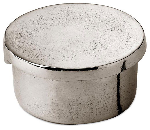 Small round box cm Ø5 (Pewter) - collection: Libio. Cosi Tabellini.