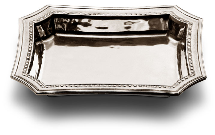Pocket change tray cm 21,5 x 17 (Pewter) - collection: Veneto. Cosi Tabellini.