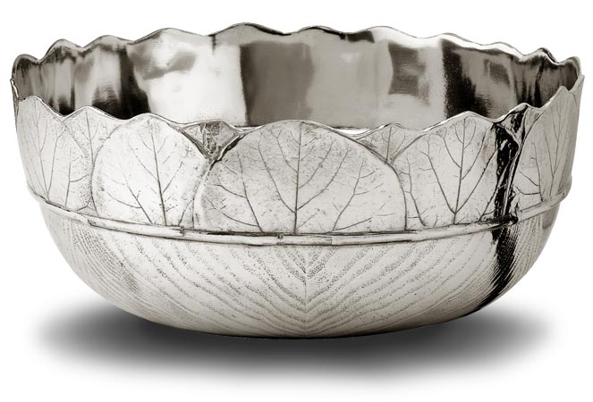 Salad bowl cm Ø25 (Pewter) - collection: Natura. Cosi Tabellini.