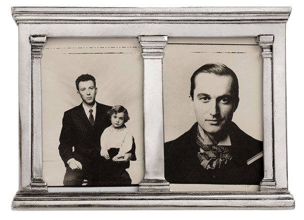 Photoframe cm 26x19 (Pewter, Glass, Wood) - collection: Verona . Cosi Tabellini.