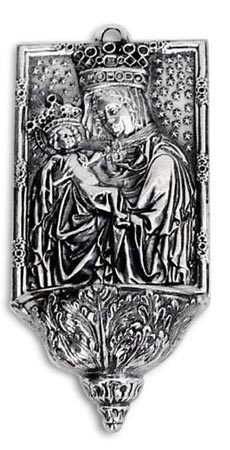 Holy water stoup - Madonna with child cm 14 (Pewter) - collection: Madonna. Cosi Tabellini.