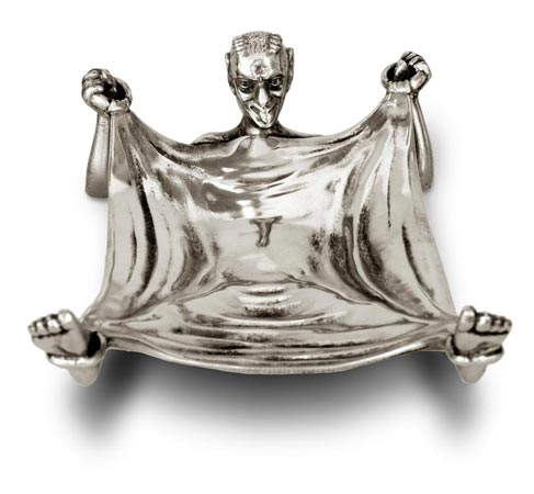 Erotic sculpture - pocket tray - satyr cm 16 x 10 (Pewter / Britannia Metal) - collection: Demon. Cosi Tabellini.
