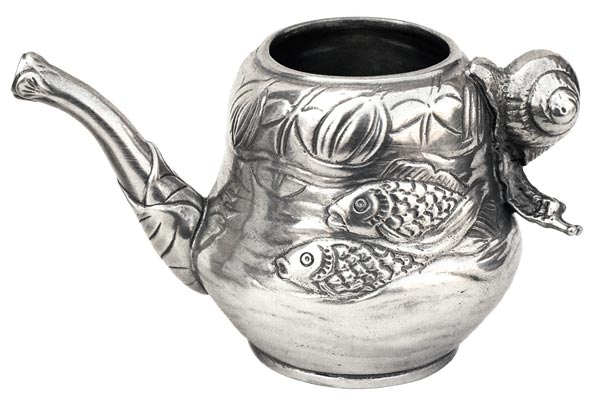 Milk pitcher - fish and snail cm 6.5 (Pewter / Britannia Metal) - collection: Pesce. Cosi Tabellini.