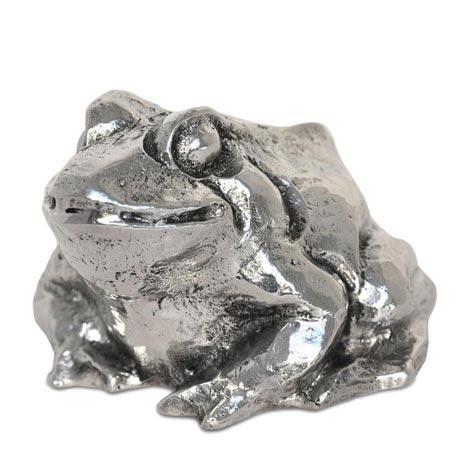 Statuette - frog cm h 6,5 x 9,5 x 9,0 (Pewter / Britannia Metal) - collection: Rana. Cosi Tabellini.
