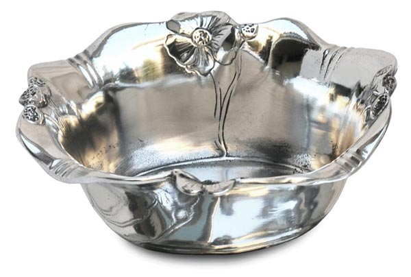 Sugar pot - primula cm 9,5 x 11 x h 4 (Pewter / Britannia Metal) - collection: Fiori. Cosi Tabellini.