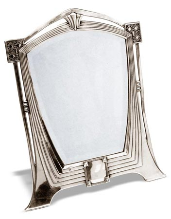 Table top mirror - Art Deco - 120 cm 53 x 42 (Pewter / Britannia Metal, Glass) - collection: Secession. Cosi Tabellini.