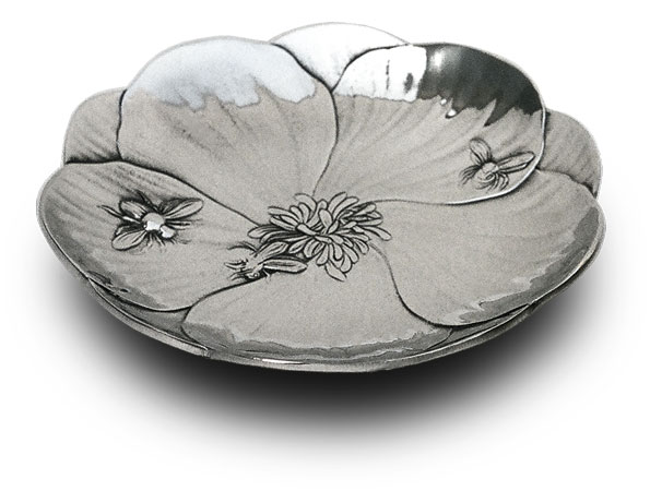 Little tray - honey bees cm 15 (Pewter / Britannia Metal) - collection: Fiori. Cosi Tabellini.