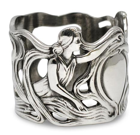 Antique napkin rings - ladies cm Ø 5 (Pewter / Britannia Metal) - collection: Donna. Cosi Tabellini.