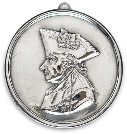 Medallion - Frederick the Great cm 10,5 (Pewter / Britannia Metal) - collection: Alte fritz. Cosi Tabellini.