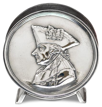 Serviette holder - Frederick the Great cm 10,5 (Pewter / Britannia Metal) - collection: Alte fritz. Cosi Tabellini.