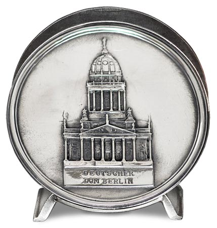 Serviette holder - berlin cathedral cm 10,5 (Pewter / Britannia Metal) - collection: Berlin. Cosi Tabellini.