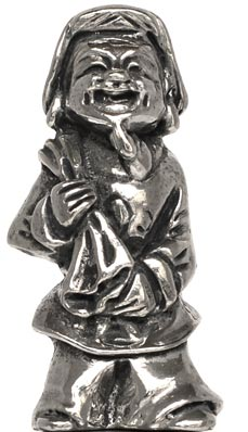 Japanese man figurine cm h 4,6 (Pewter / Britannia Metal) - collection: Giapponese. Cosi Tabellini.