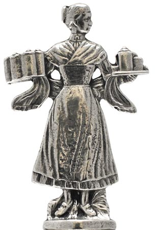 Statuette - waitress - WMF cm 0 (Pewter / Britannia Metal) - collection: Relief. Cosi Tabellini.
