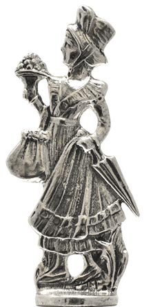 Walking woman statuette cm h 6,6 (Pewter / Britannia Metal) - collection: Relief. Cosi Tabellini.