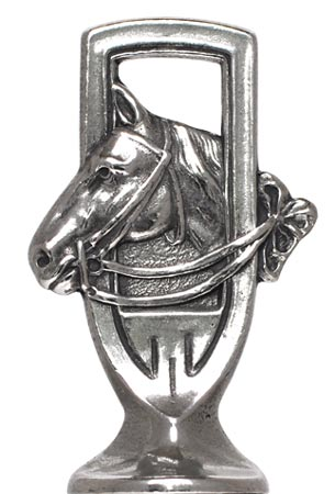 Horse figurine cm h 5,5 (Pewter / Britannia Metal) - collection: Cavallo. Cosi Tabellini.