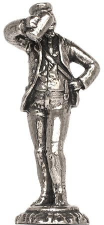Student figurine cm h 5,6 (Pewter / Britannia Metal) - collection: Arts and crafts. Cosi Tabellini.