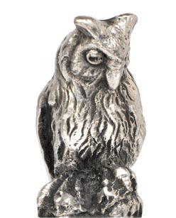 Owl statuette cm h 3,4 (Pewter / Britannia Metal) - collection: Gufo. Cosi Tabellini.