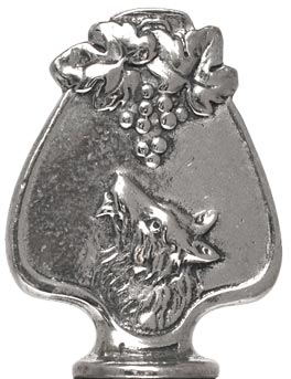 Fox and grapes figurine cm h 4 (Pewter / Britannia Metal) - collection: Volpe. Cosi Tabellini.