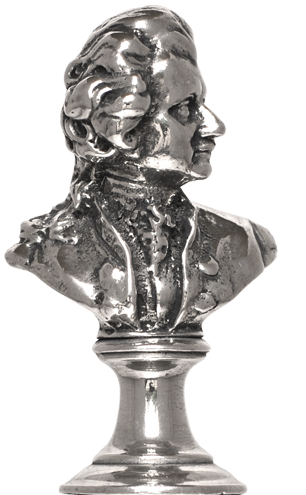 Mozart with support figurine cm h 5,8 (Pewter / Britannia Metal) - collection: Mozart. Cosi Tabellini.