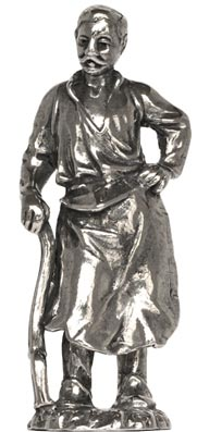 Blacksmith figurine cm h 5,9 (Pewter / Britannia Metal) - collection: Arts and crafts. Cosi Tabellini.