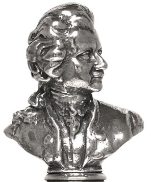 Mozart figurine cm h 4,2 (Pewter / Britannia Metal) - collection: Mozart. Cosi Tabellini.