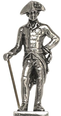 Frederick the Great with sword and rod figurine cm h 7,1 (Pewter / Britannia Metal) - collection: Alte fritz. Cosi Tabellini.
