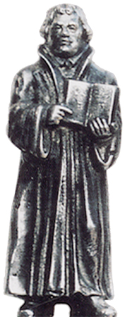 Martin Luther cm h 7 (Pewter / Britannia Metal) - collection: Luther. Cosi Tabellini.