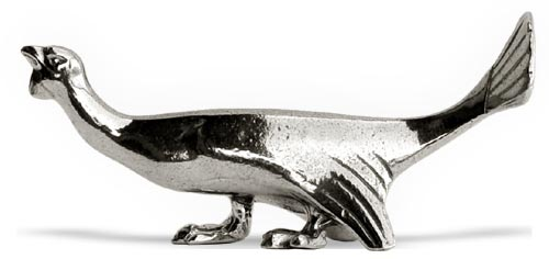 Cutlery/chopstick rest - turkey cm 8 x h 3.5 (Pewter / Britannia Metal) - collection: Tacchino. Cosi Tabellini.