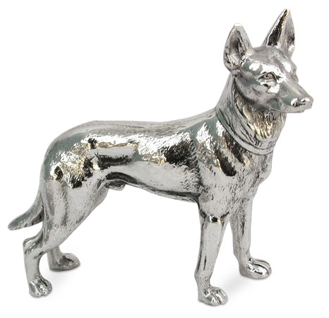 German shepherd cm 12x10 (Pewter / Britannia Metal) - collection: Cane. Cosi Tabellini.