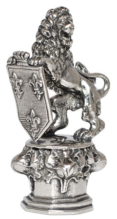 Lion of Wiesbaden cm 4,5x9h (Pewter / Britannia Metal) - collection: Leone. Cosi Tabellini.