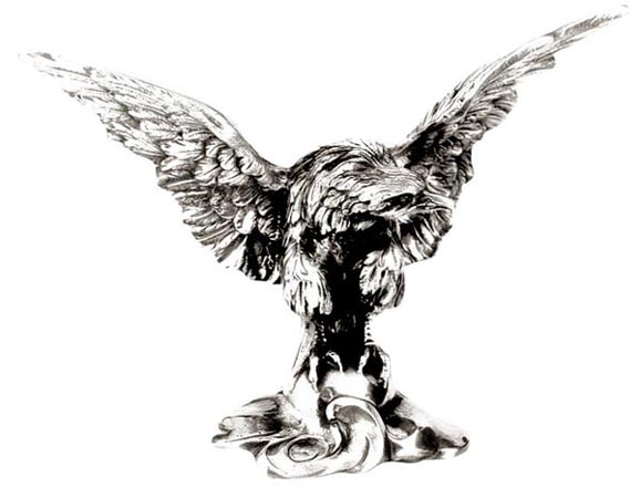 Eagle statue cm 21 x h 15 (Pewter / Britannia Metal) - collection: Aquila. Cosi Tabellini.