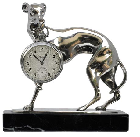 Pocket watch stand - greyhound cm 14x7x h 12 (Pewter / Britannia Metal) - collection: Cane. Cosi Tabellini.