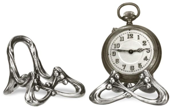 Pocket watch stand cm 6x4,3 (Pewter / Britannia Metal) - collection: Frutta. Cosi Tabellini.
